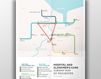 Rochester Subway Map for Hospitals/Alzheimer's Care