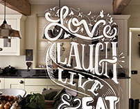 Love Laugh Live & Eat Food