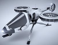 3D NAVE CAZA prototipo