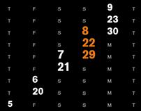 Type calendar