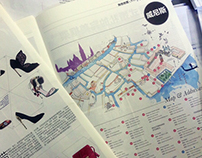 Italian fashion cities maps for Italy Illustrated