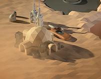2 Hour Render - Tatooine scene