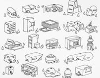 Architecture Houses - 3d prints 3
