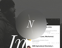 CS Note UI design concept