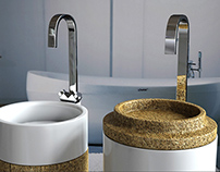 Cork Washbasin