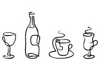Tableware Hand Drawn Free Icons
