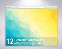 Material Design Geometric Backgrounds