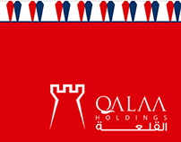 "corporate identity redesign for "" Qalaa company"""