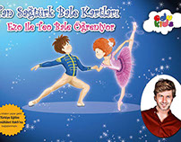 Ezo ve Teo Bale Öğreniyor - Edukids Education cards