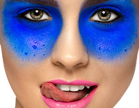 blue make-up