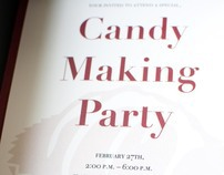 Candy Making Invitation