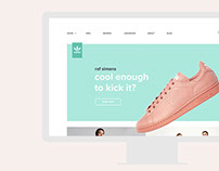 Web Design for Adidas Shoes