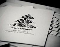 Invaded Christmas | Silk screen printed postcards