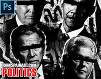 """POLITICS""  DIGITAL ART PROCESS VIDEO"