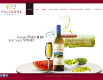 Vallonne Flash Website Concept