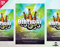 Birthday Flyer Free PSD