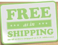 Free Shipping to Alaska and Hawaii.
