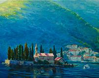 Boka-Kotor bay (oil, 50x80 cm)