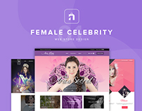 Female Celebrity Web Store Design 01