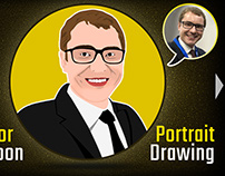 Vector Cartoon Portrait Drawing & Vector Art