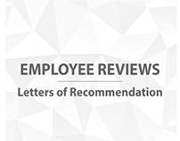 Employee Reviews | Letters of Recommendation