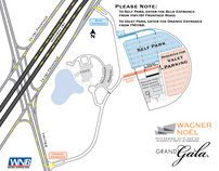 Parking Map for Wagner Noël Performing Arts Center