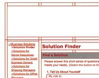 Solution Finder Wireframes