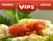 VIPS Restaurants • Web Design & Icons