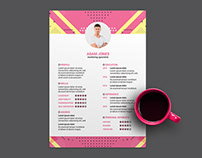 Free Marketing CV/Resume Template