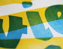 Typographic Letterpress Poster