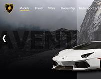 Lamborghini Web App Design