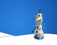 Olaf Papercraft Model