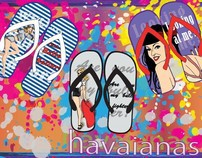 Havaianas Custom Project - Pin Up Theme