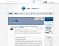AIM Institute Website Redesign