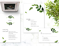 Greenery Wedding Invitation Set