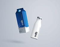 Milk Bottle Mockup – PSD