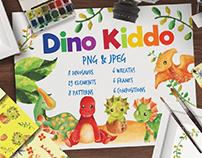 Dino Kiddo Watercolor Set