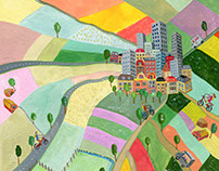 Illustrations for magazine 'Onze School' by VOO