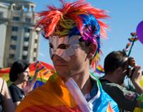 Diversity March (Gay Parade) at GayFest, Bucharest