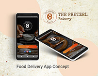 Food Delivery App Concept. Full UI/UX Design