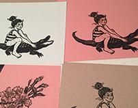 Linoleum Block 'Linocut' Prints