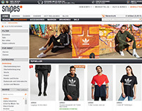 Snipes Shop. Cooperation with Adidas + Video