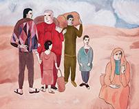 Illust | Family of s̶a̶l̶t̶i̶m̶b̶a̶n̶q̶u̶e̶s̶ Syrians