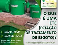 Flyer - DF Coelho Ambiental: O que é ETE?