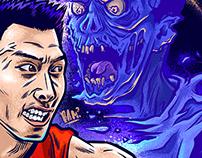 Yi Jianlian fighting Zombie. (易建聯)