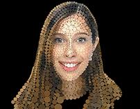 Digital Poinitillism: Self-Portrait