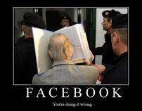 Facebook Social Poll App Mockups