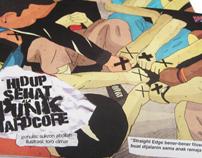 Hidup Sehat ala Punk Hardcore Book Design