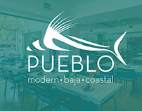 Pueblo Modern Baja Coastal, Restaurant Branding & Logo