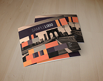 Minimal Squares Trifold Brochure